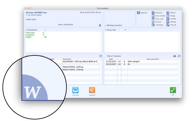 La documentation en ligne est directement accessible depuis chaque écran du logiciel Médimust